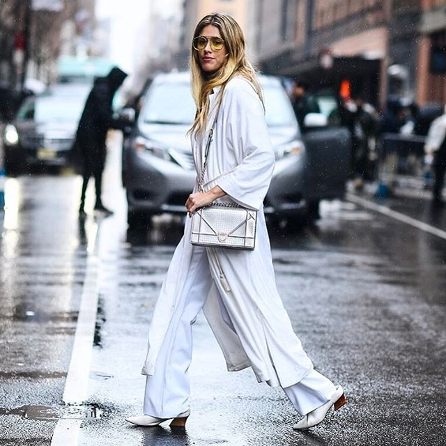 dfcb3b25deb1 All white on a rainy day 💙  NYFW