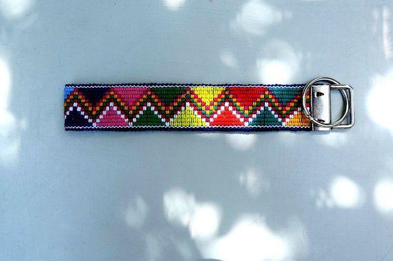 Unique colorful  wristlet key chain custom key fob by VivaGuate