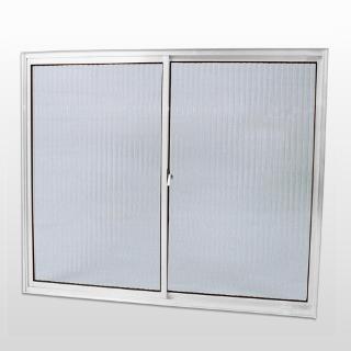 Janela De Correr Alumínio Sem Grade Vidro Canelado 100x120cm Habitec - CasaShow