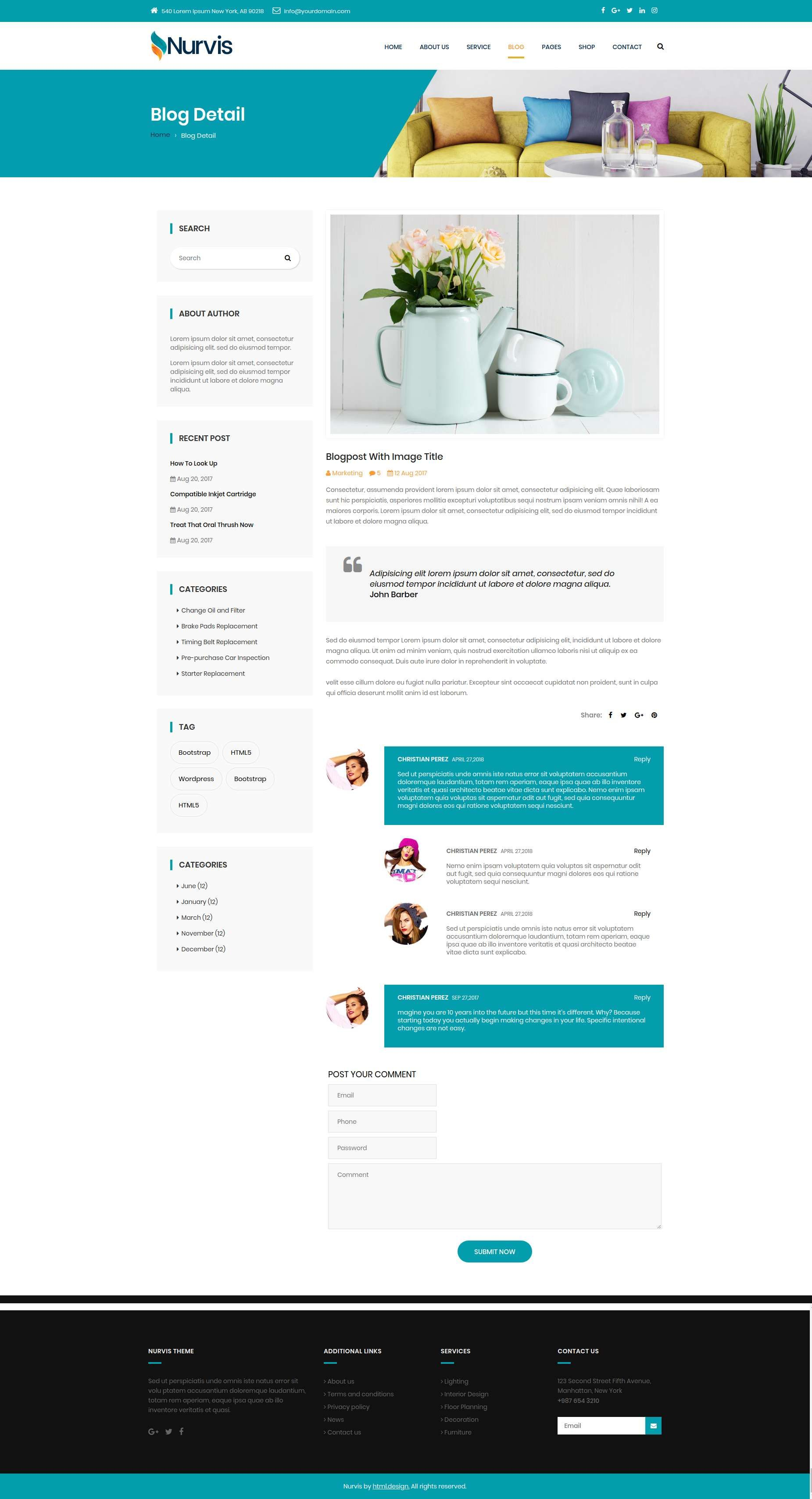 Nurvis - Furnitue Homestyle Bootstrap 4 Responsive HTML5 Template ...