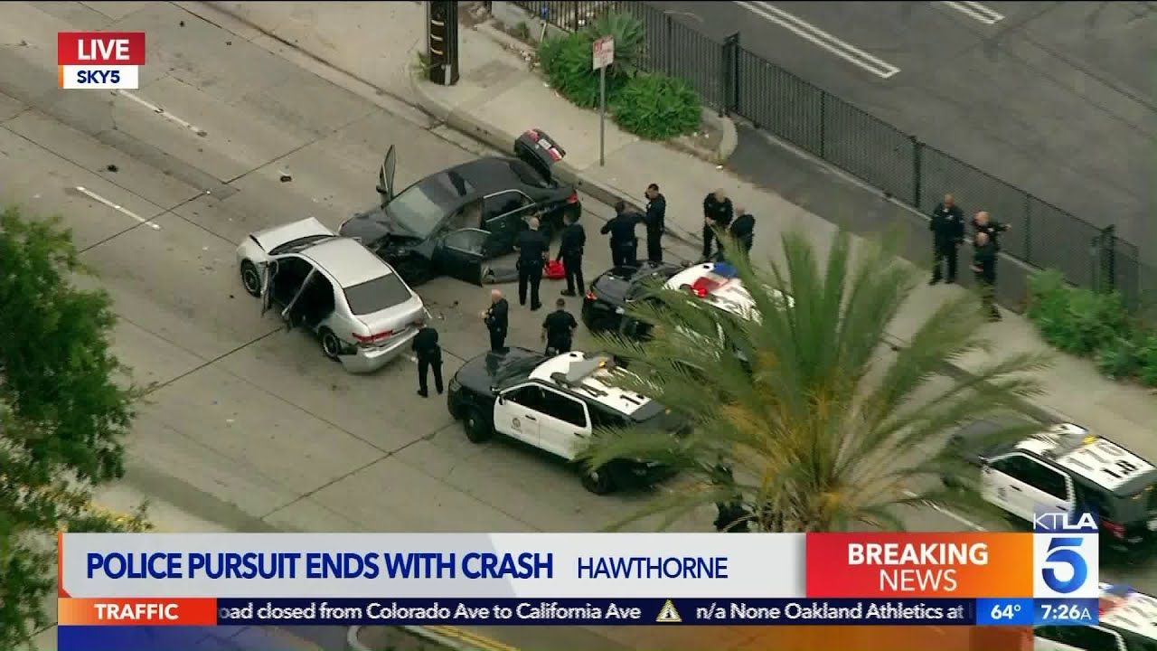 Police Pursuit Ends In Crash In Hawthorne Https Www Youtube Com Watch V Wgo71zulch8 Hawthorne Police Crash