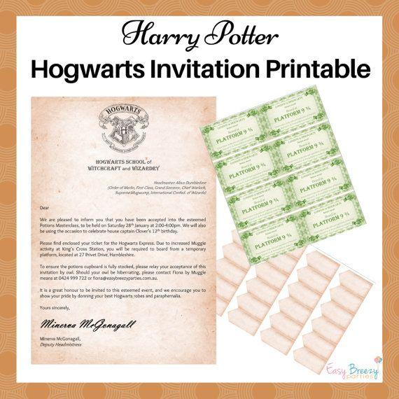 HARRY POTTER Invitation