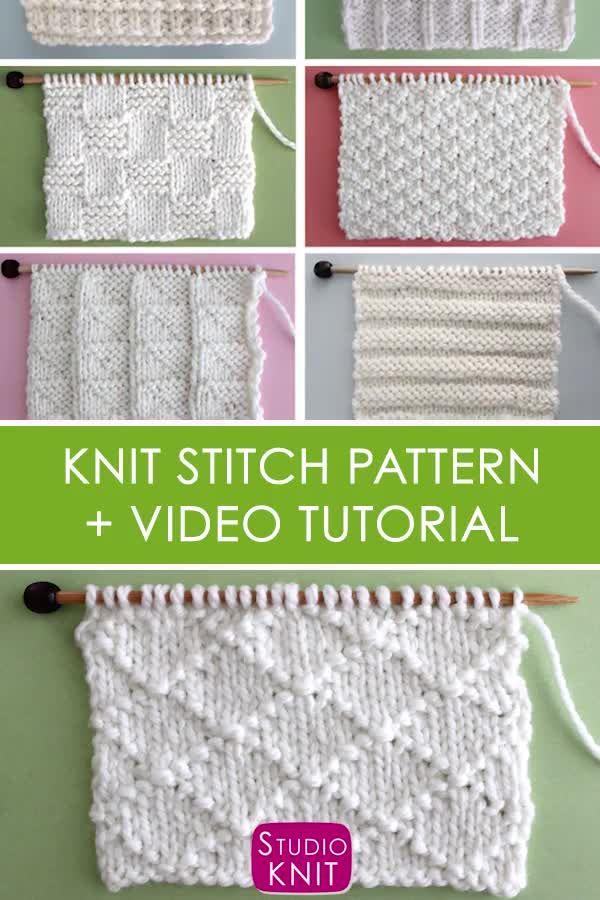 Diamond Brocade Stitch Knitting Pattern