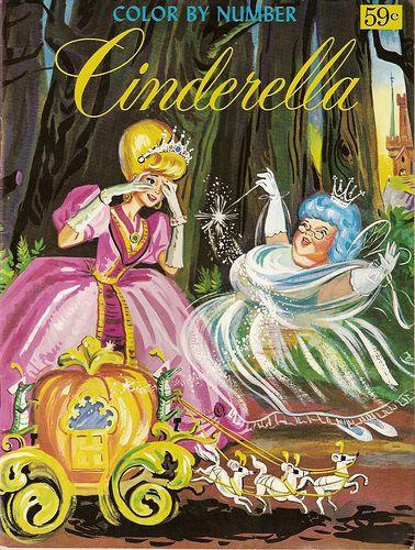 Vintage Cinderella Color By Number