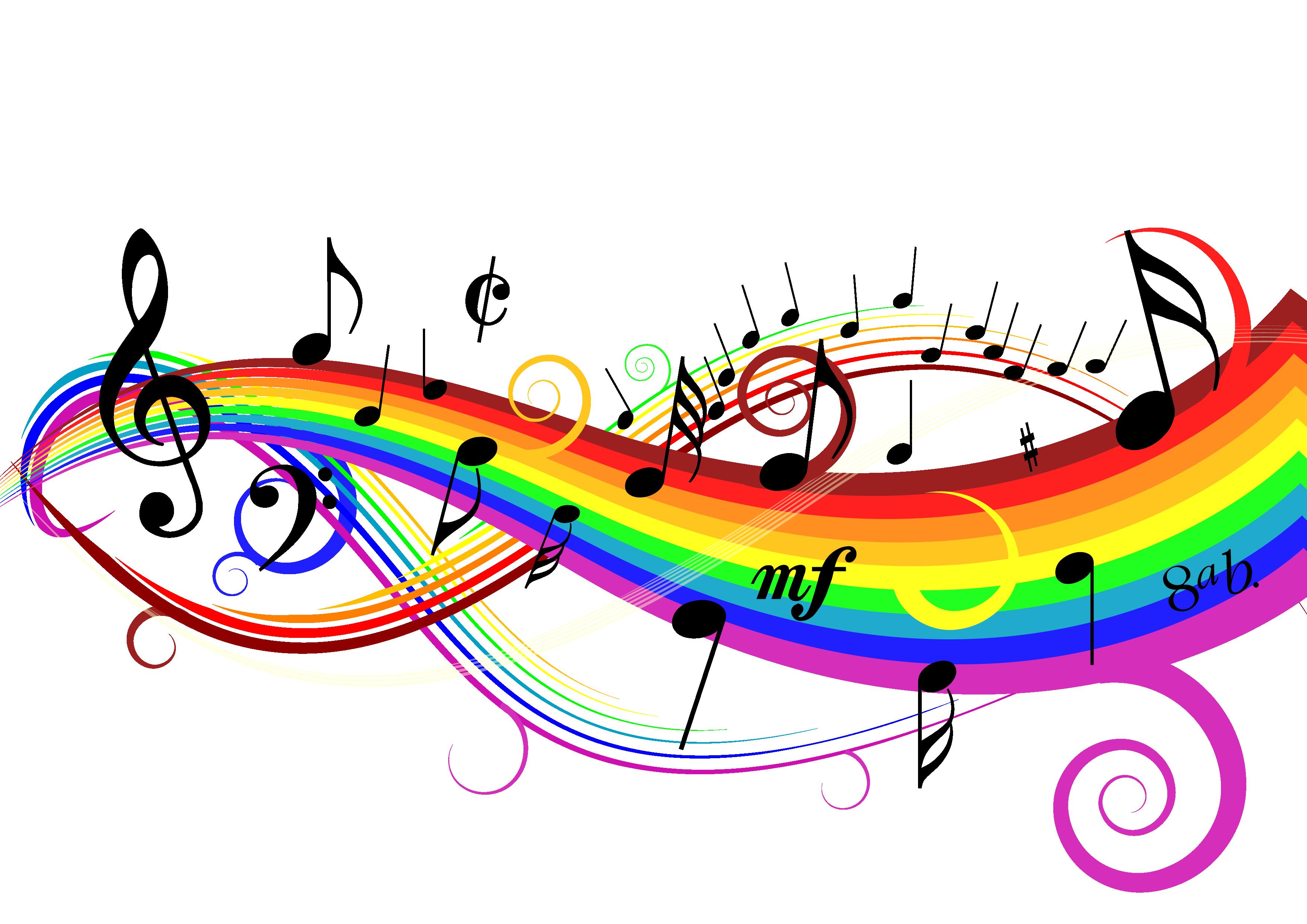 Notas Musicales Notas Musicales De Colores Notas Musicales Imagenes De Notas Musicales