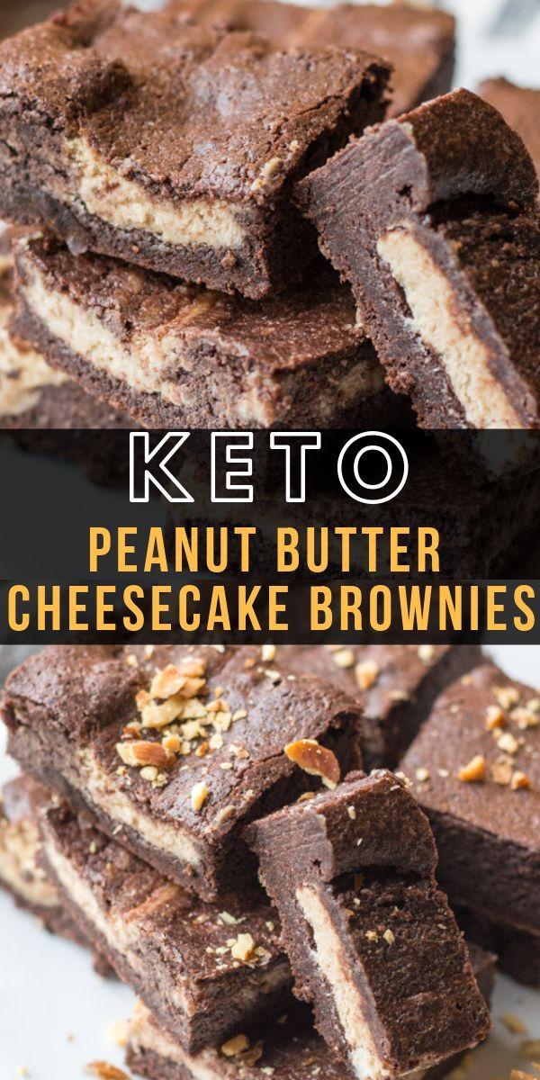 Keto Peanut Butter Cheesecake Brownies - Maebells