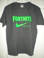 Fortnite T Shirt Just Play It Sz Xl Gray New Fortnite