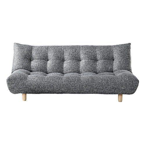 Primo International Florence Convertible Futon Gray