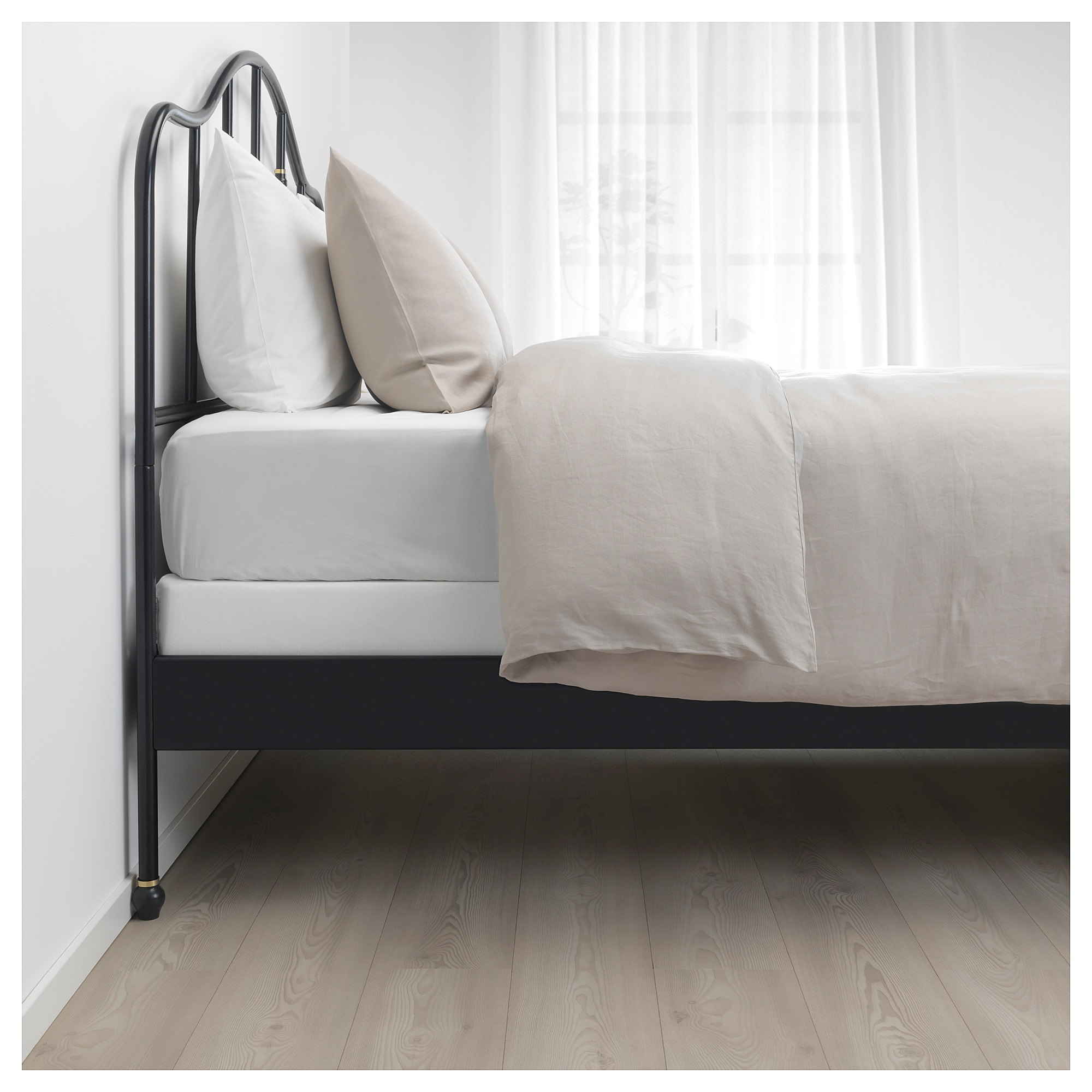 IKEA SAGSTUA Black, Espevär Bed frame Bed frame, Comfort