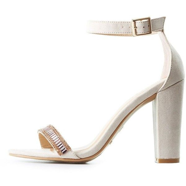 53ce3fb3a92 Bamboo Embellished Two-Piece Sandals ( 20) ❤ liked on Polyvore featuring  shoes