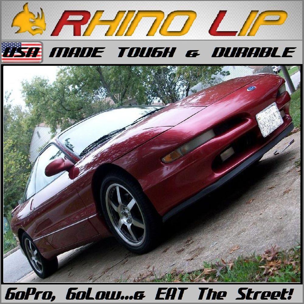 Ford Probe Gs Gt Svo Universal Flexible Rubber Bumper Lip Chin Spoiler Splitter Rhinolipduraflexsplitterbumperguard Tough Lips Flexible Rubber
