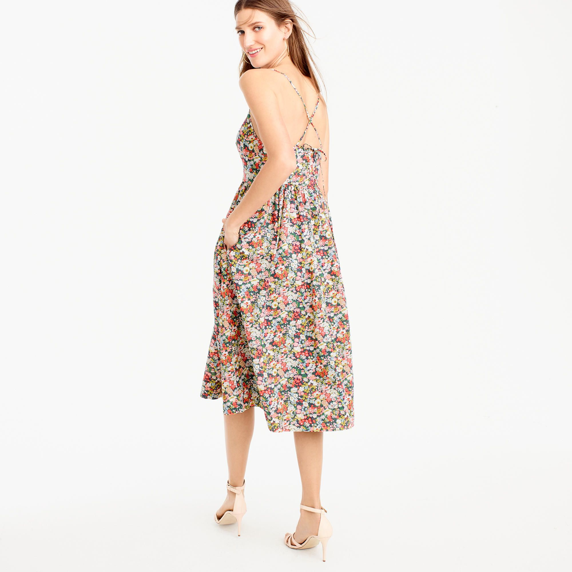 dbd19c2a95 Lace-up back dress in Liberty® Thorpe floral