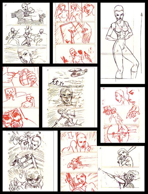 Comic Sequence Illustration | Code Z: The Series Images Storyboard