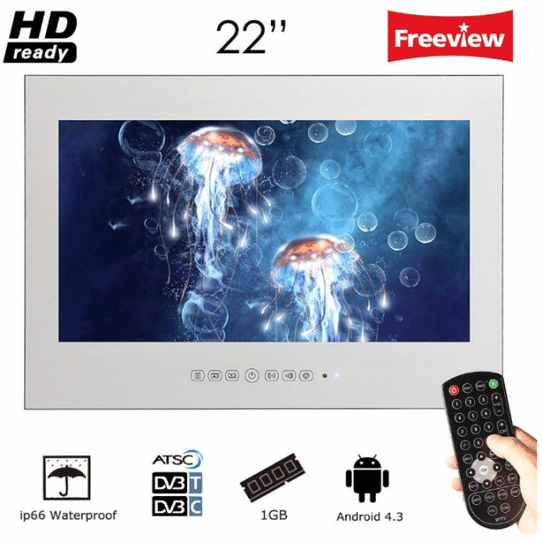 Soulaca 22 Inch Frameless Smart Waterproof Magic Mirror Bathroom Tv M220fa 22 Inch Tv Digital Tv Tv In Bathroom