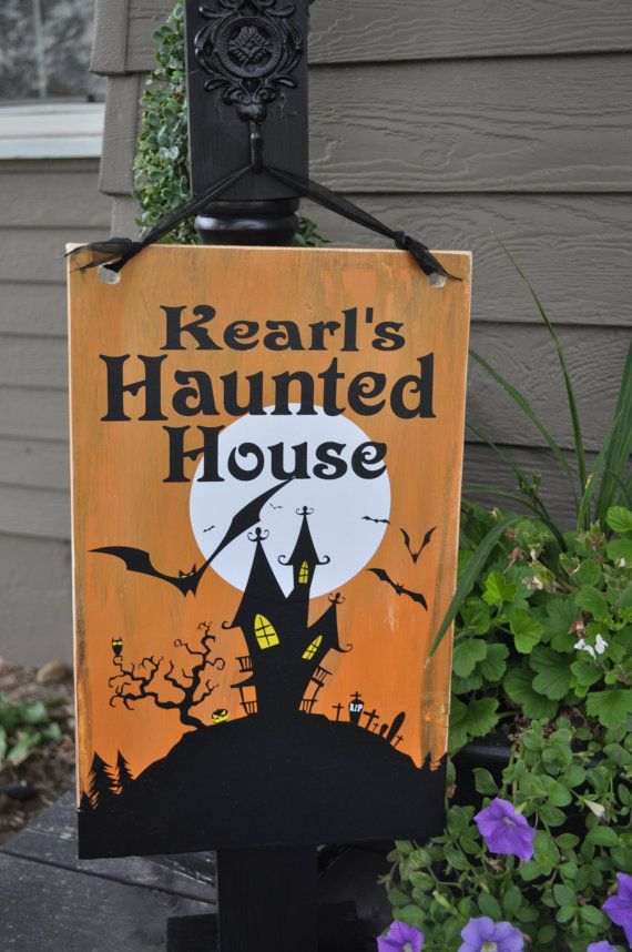 Haunted Halloween Sign