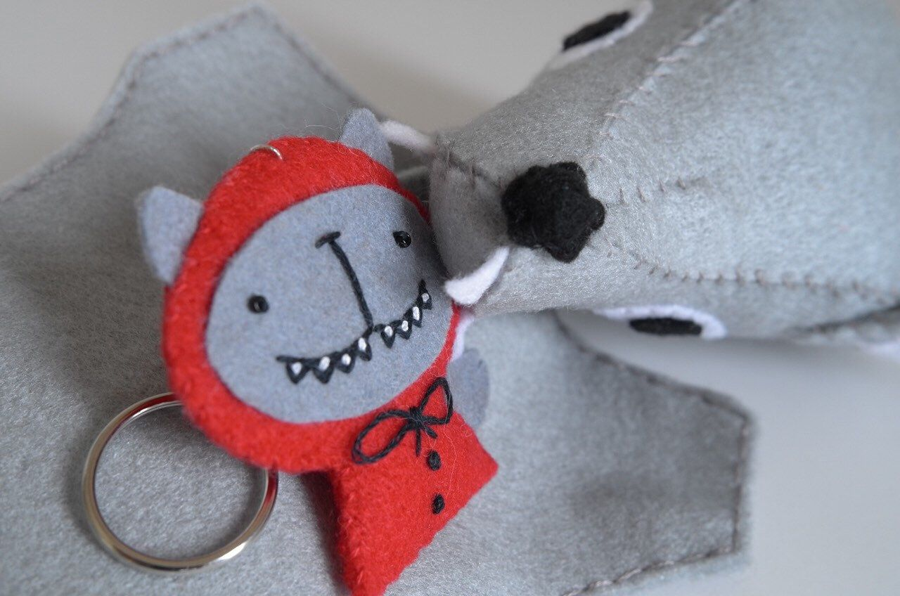 Wolf hand puppet - wolf puppet, grey wolf, animal hand puppets, poupee waldorf #handpuppets