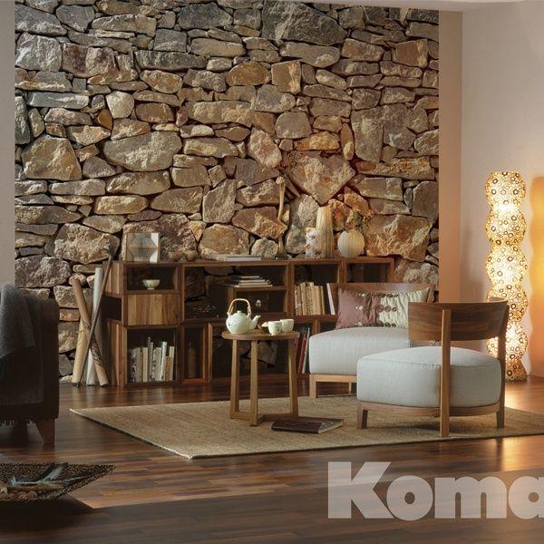 Great Komar Stone Wallpaper from Steves Blinds For the Home