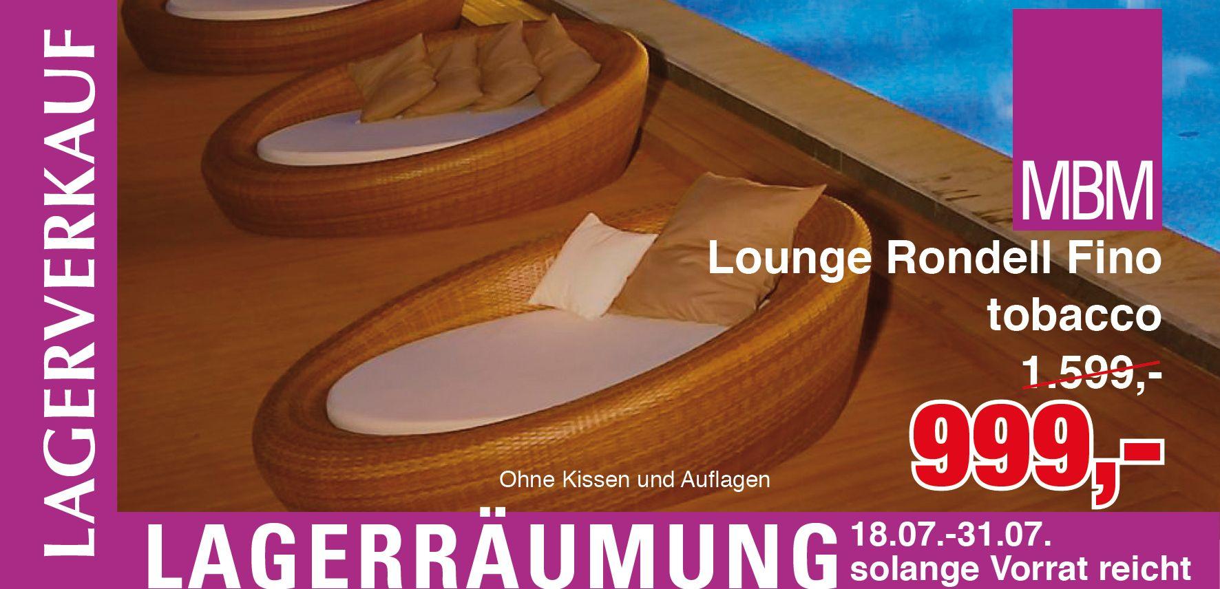 Lounge Rondell Fino Mbm Gartenmobel Lagerverkauf Lounge Gartenmobel Alles Muss Raus