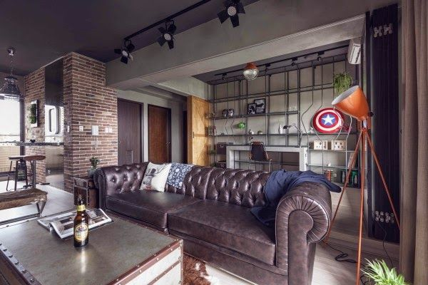 A Loft Apartment Bachelor Pad | Lofts, Apartments and Leather living ...