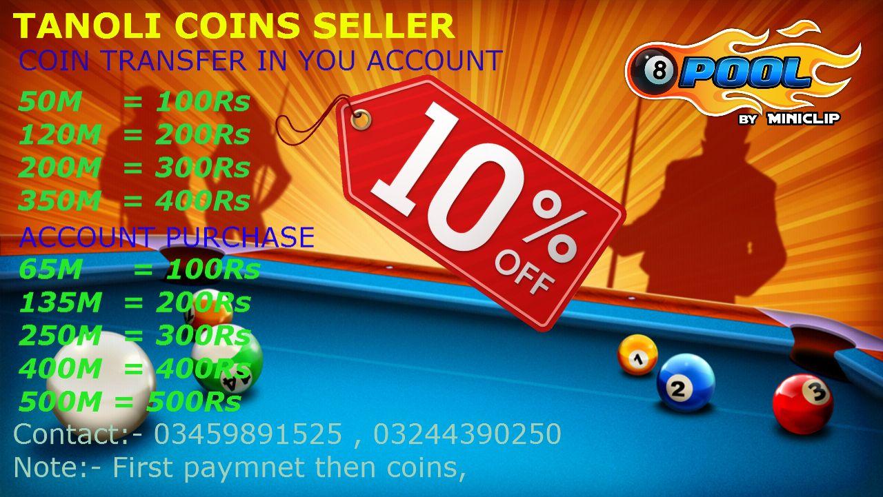 8 ball pool coins and account islamabad pkr. 97 | AdBazar.pk ... -