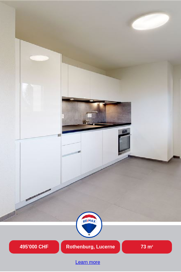 73 Sqm Condo Apartment For Sale 4 5 Rooms Located At Lehnstrasse 32 Rothenburg Lucerne 2 Zimmer Wohnung Raumlichkeiten Laminatboden