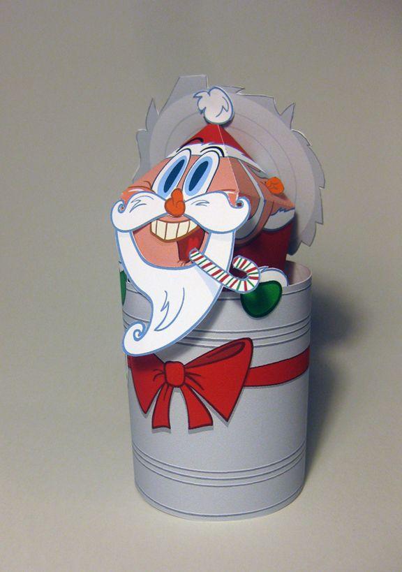 Especial Embalagens de Natal  Um Divertido enfeite de Natal feito com Papelcartão.  Designed By Matthew Hawkins