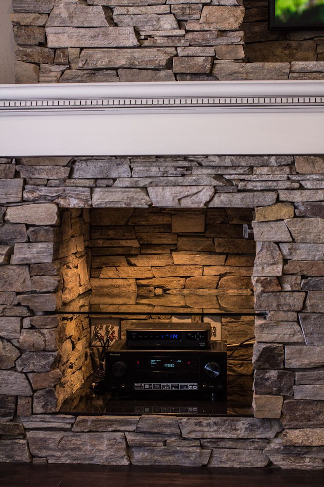 Custom Fireplace Entertainment Center Remodel By Built By Grace