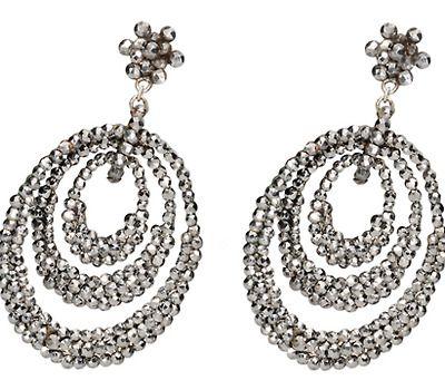 Mercurial Light - Antique Cut Steel Earrings - The Three Graces