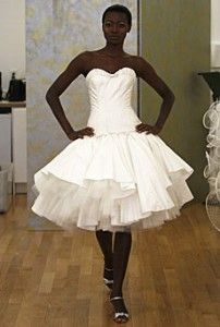 vestido de noiva curto estilo bailarina