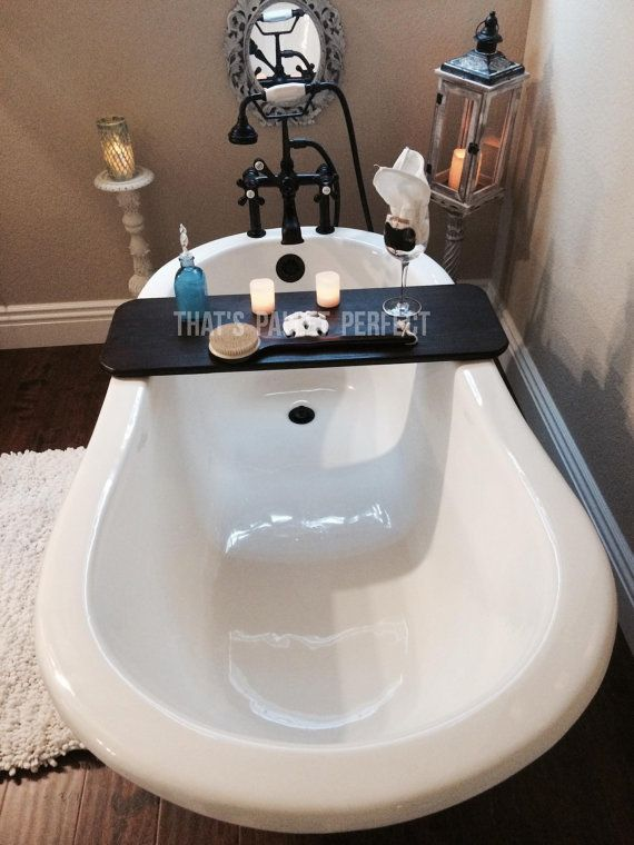 Rustic Bathtub Tray, Bath Board, Bathtub Caddy, Bath Tub Shelf, Bath ...