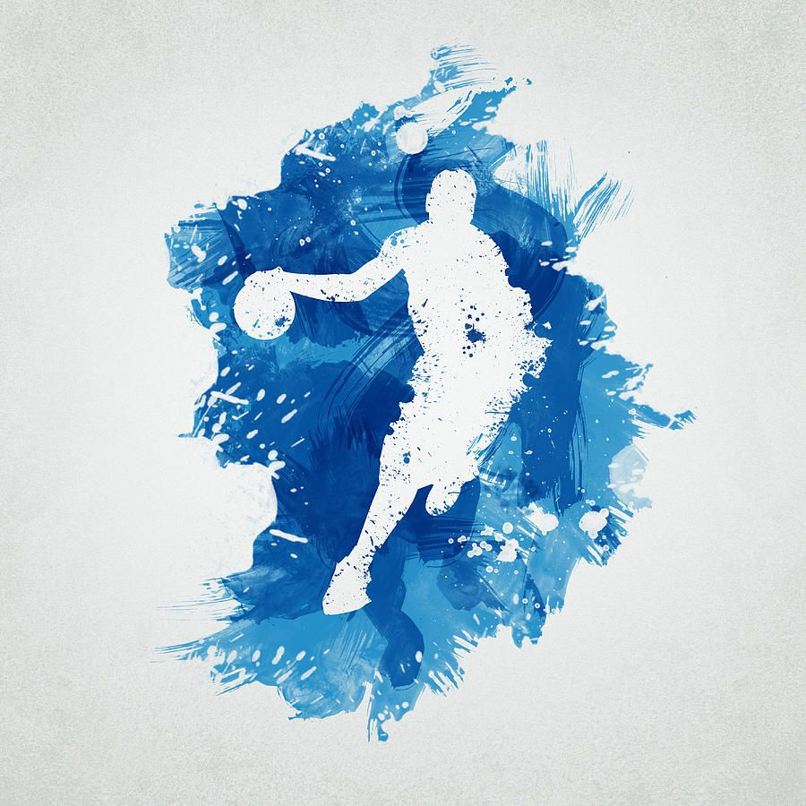 Basketball White Red Blue Nba Painting