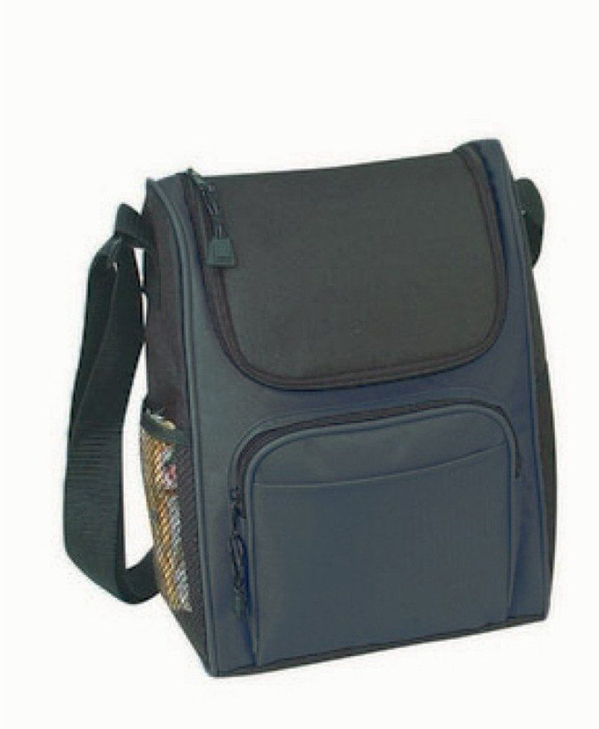 Deluxe Insulated Poly Lunch Bag [Black] - 36 Units