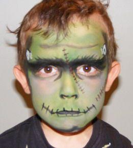 Face Painting Frankenstein Maquillaje infantil Pintura de cara y
