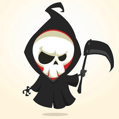 ilustração dos desenhos animados do vetor de morte assustador de