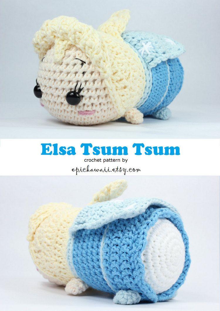PATTERN: Elsa Tsum Tsum Crochet Amigurumi Doll | Amigurumi patterns ...