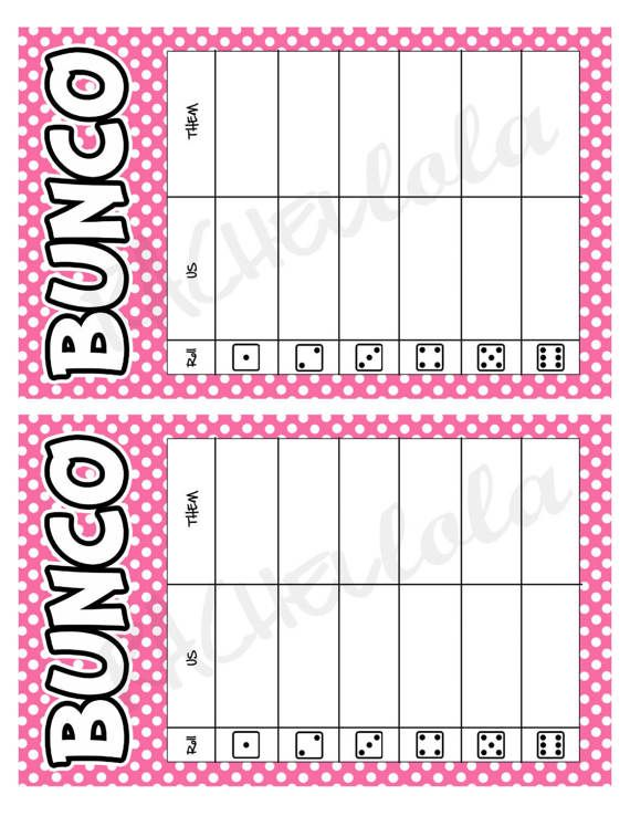 graphic relating to Printable Bunco Table Tally Sheets known as Purple polka dot bunco desk tally sheets, us them tally playing cards