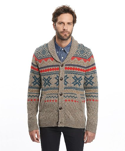 Penna Fairisle Cardigan Sweater | Mens Sweaters | Pinterest