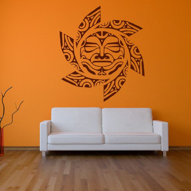 Free Patterns Wall Art | Decorative Sun Tribal Pattern Wall Art Sticker Wall Art Transfers & Free Patterns Wall Art | Decorative Sun Tribal Pattern Wall Art ...