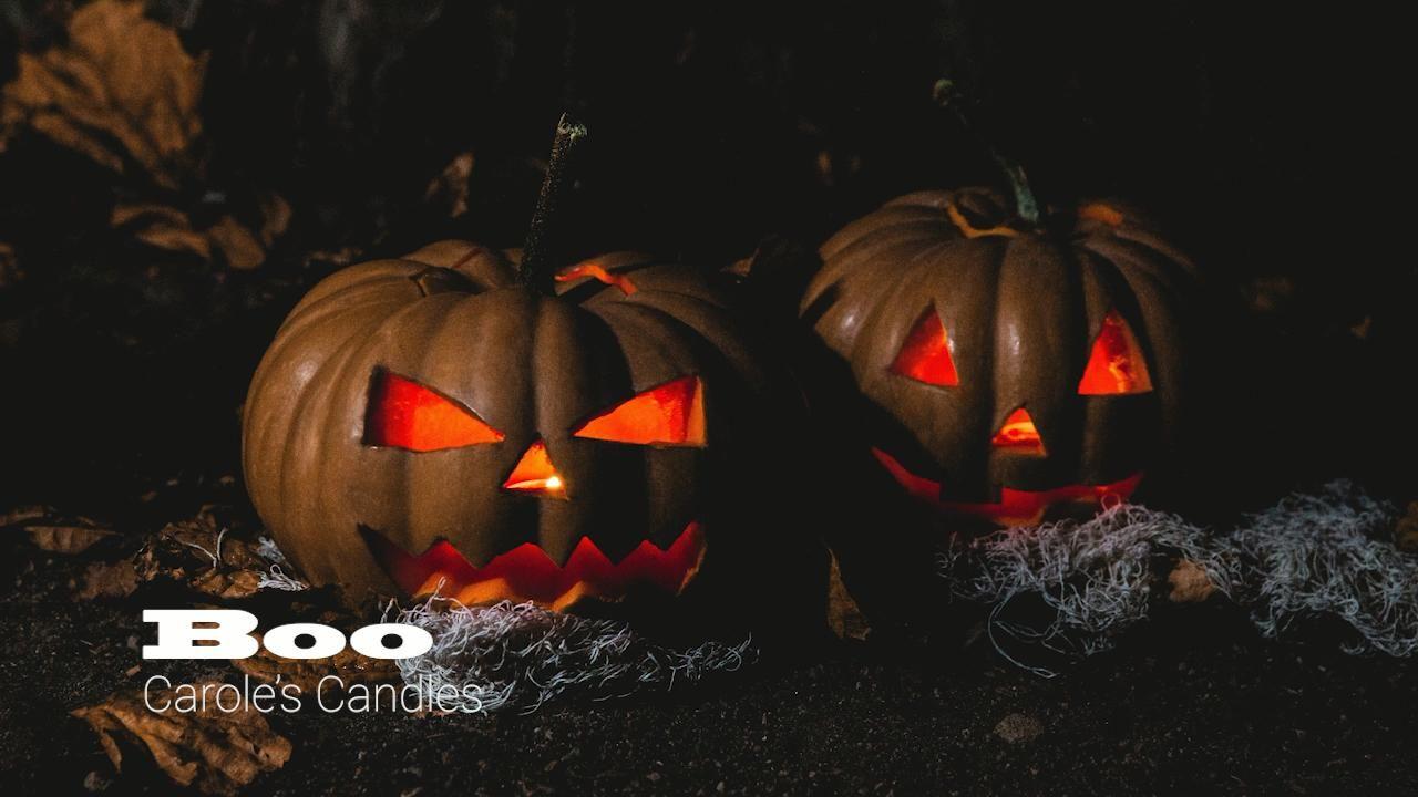 Boo!!! Halloween Candles