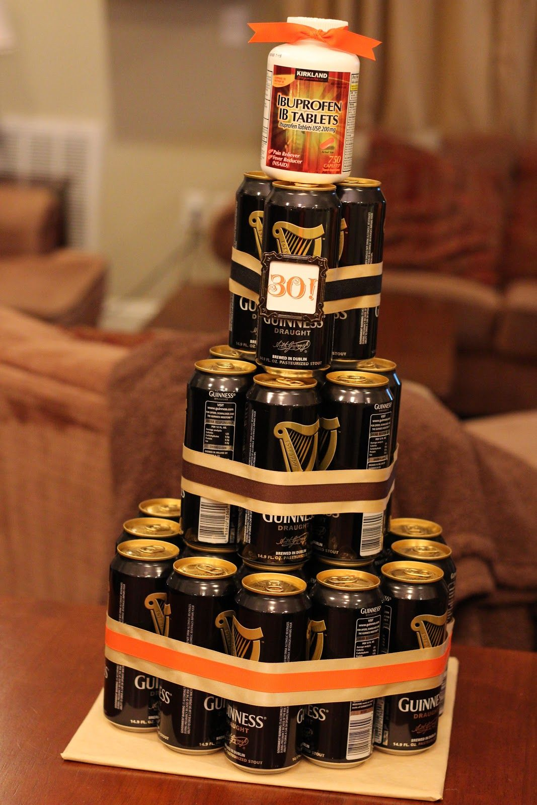 Beer cake...such a good idea! 30th birthday, 30th