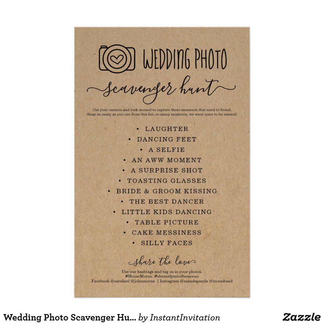 Wedding Photo Scavenger Hunt I Spy Game Kraft Flyer | Zazzle.com -   18 wedding Games for money ideas