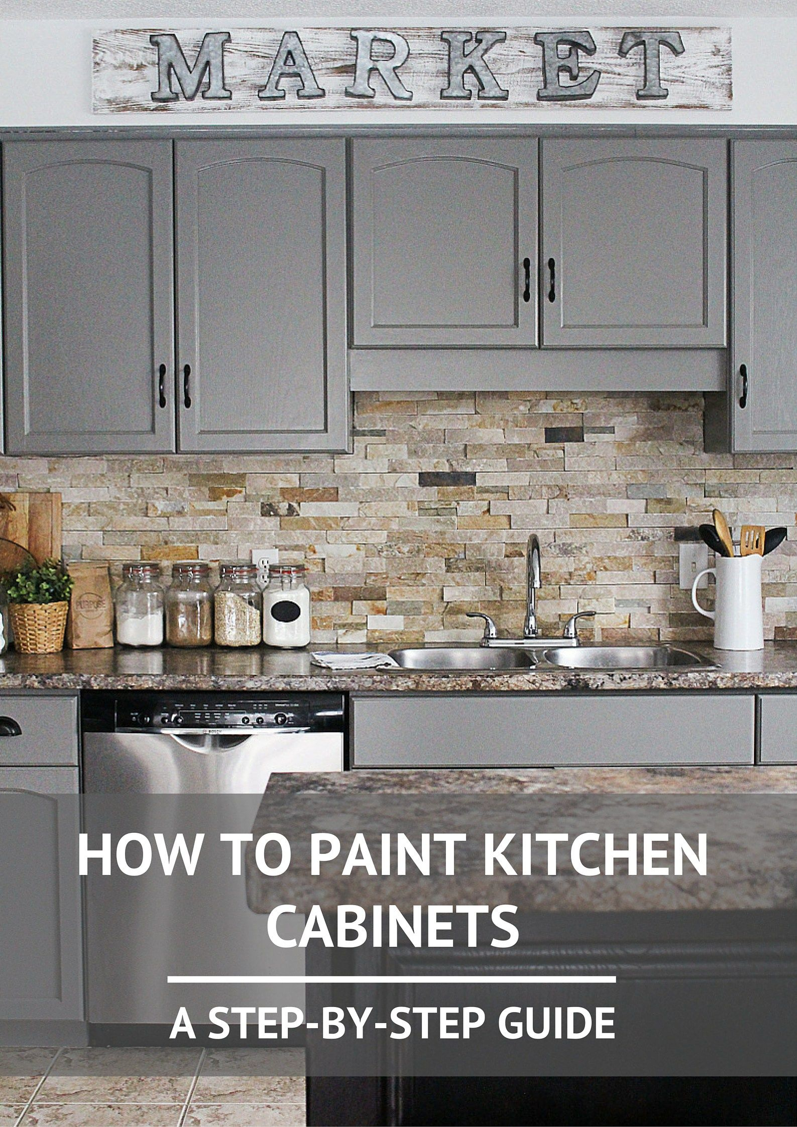 How To Paint Kitchen Cabinets Ideas For My Home Pinterest - Grey and white painted kitchen cabinets