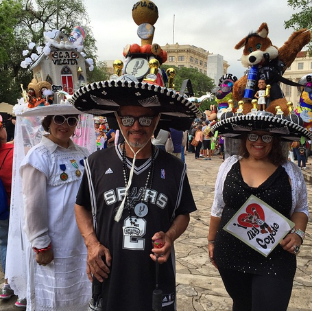 premium selection 54437 17c55 Fiesta hats and #Spurs gear. April in San Antonio. | ¡Viva ...