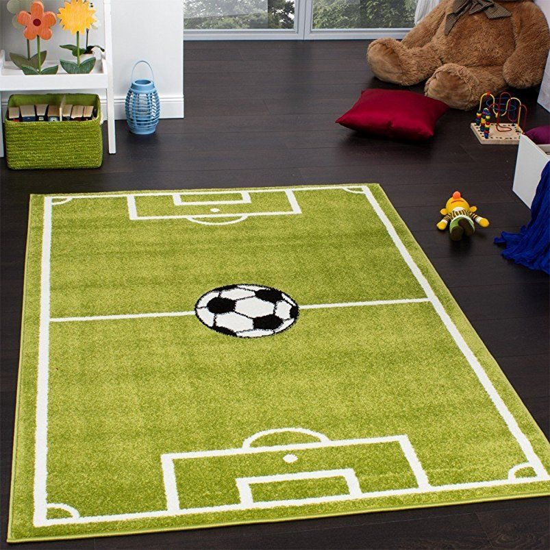 Teppich Kinderzimmer Fussball Spielteppich Kinderteppich