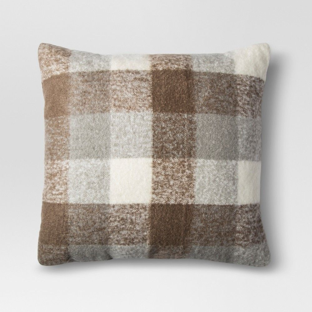 Brown Faux Mohair Oversized Throw Pillow Threshold
