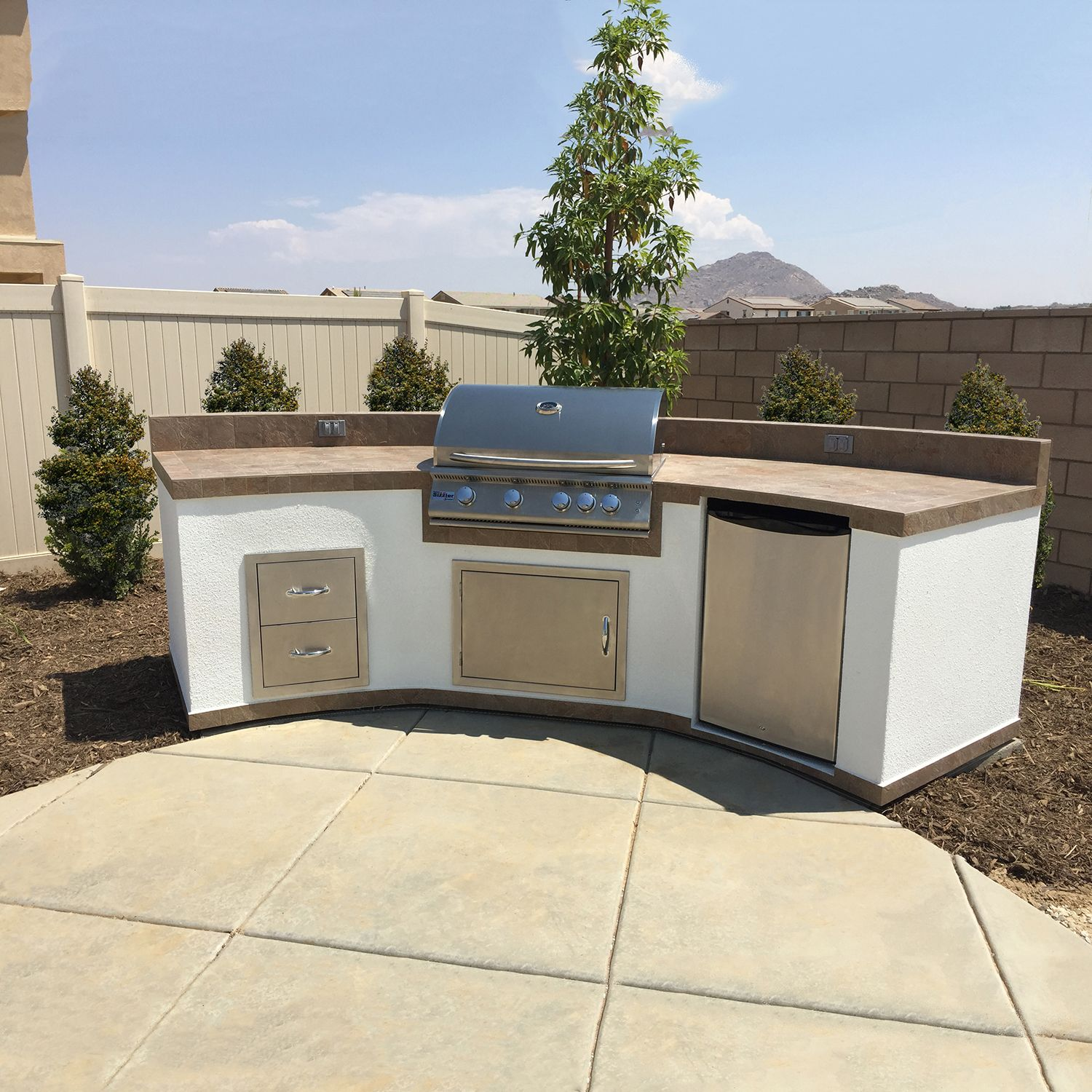 image result for bbq islands with white stucco finish | outdoor