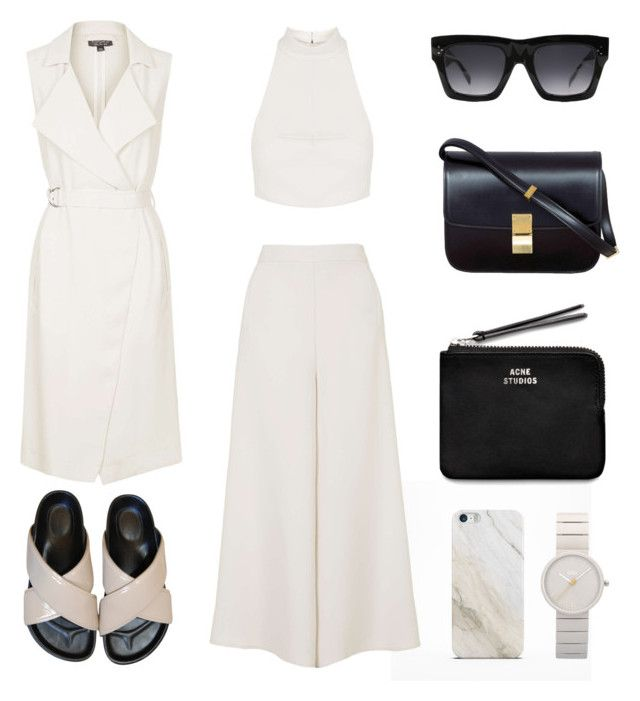 Black Accents by fashionlandscape on Polyvore featuring Mode, Topshop, Acne Studios, Braun, Samsung and CÉLINE