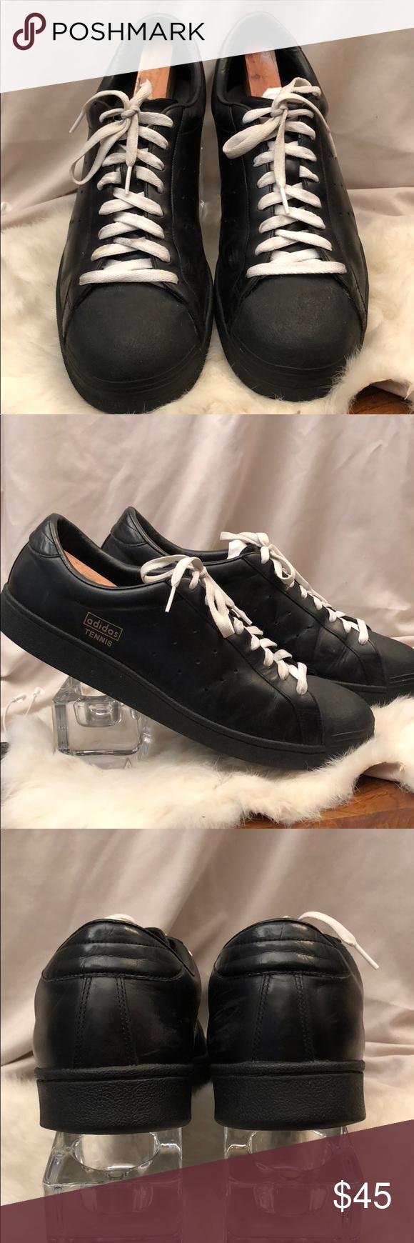 Adidas Men's Black Tennis Shoes Size 14