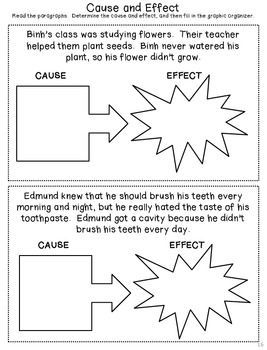 cause and effect activities middle school