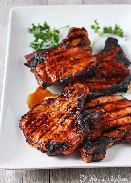 Low FODMAP Balsamic BBQ Pork Chops - Delicious as it Looks